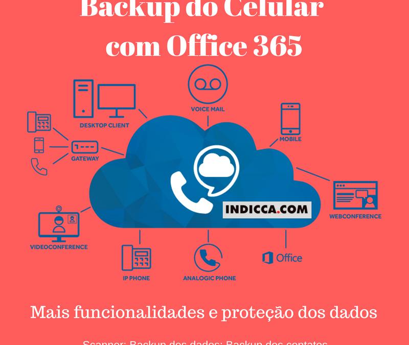 Backup do Celular com Office 365