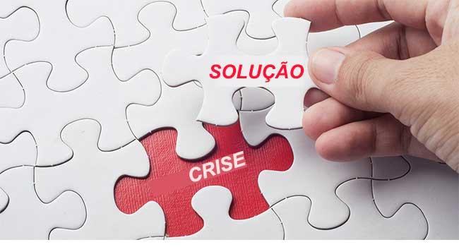 Gerenciar crise para evitar improviso e erros na atitude de resolver.